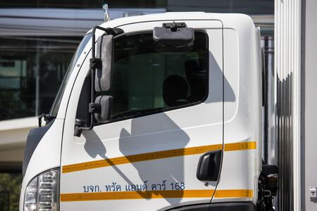 Chiangmai, Thailand - November 21 2019: Private Truck Tata Ultra 1014 Product of India. Photo at about 8 km from downtown Chiangmai thailand. Editoriali