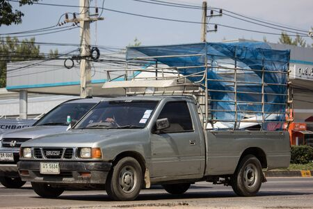 Chiangmai, Thailand - November 19 2019: Private Isuzu TFR Pickup Truck. On road no.1001 8 km from Chiangmai city.