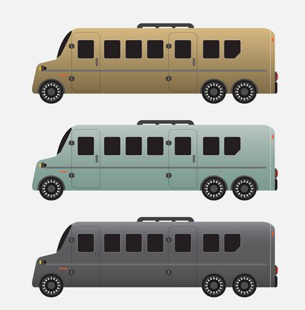 Set of Super Long Passenger limousine Van Vector Ilustrace