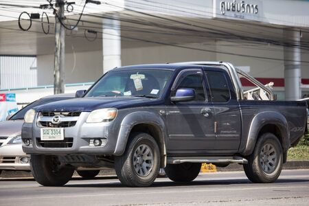 Chiangmai, Thailand - November 19 2019: Private Pick up, Mazda BT50. Photo at road no.121 about 8 km from downtown Chiangmai, thailand. Editorial