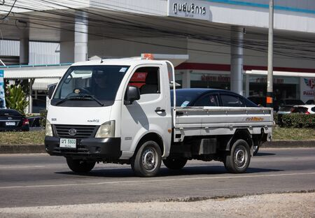 Chiangmai, Thailand - November 21 2019:  Private Tata SuperACE City Giant Mini truck. On road no.1001 8 km from Chiangmai city. Editoriali