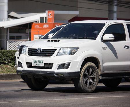Chiangmai, Thailand - November 21 2019: Private Toyota Hilux Vigo  Pickup Truck.  On road no.1001 8 km from Chiangmai city.