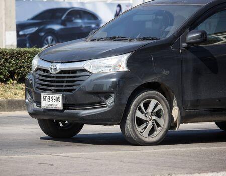 Chiangmai, Thailand - November 25 2019: Private Toyota Avanza car. Mini Suv Car for Urbun User. Photo at road no.121 about 8 km from downtown Chiangmai thailand.