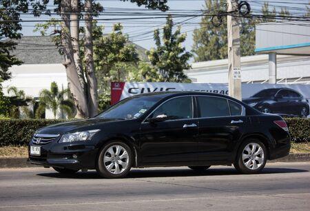 Chiangmai, Thailand - November 28 2019: Private car Honda accord. On road no.1001 8 km from Chiangmai Business Area.