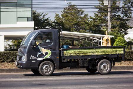 Chiangmai, Thailand - December 16 2019: Private Tata SuperACE City Giant Mini truck. On road no.1001 8 km from Chiangmai city.
