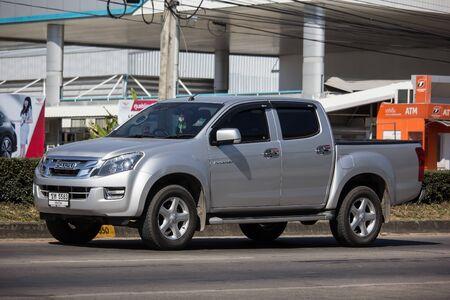 Chiangmai, Thailand - November 28 2019: Private Isuzu Dmax Pickup Truck. On road no.1001 8 km from Chiangmai city. Editorial