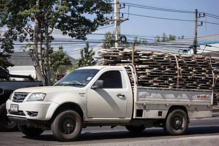 Chiangmai, Thailand - December 2 2019: Private Tata Xenon  Pickup truck. Photo at road no 121 about 8 km from downtown Chiangmai, thailand. Editoriali