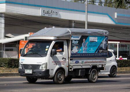 Chiangmai, Thailand - December 7 2019: Private Tata SuperACE City Giant Mini truck. On road no.1001 8 km from Chiangmai city.
