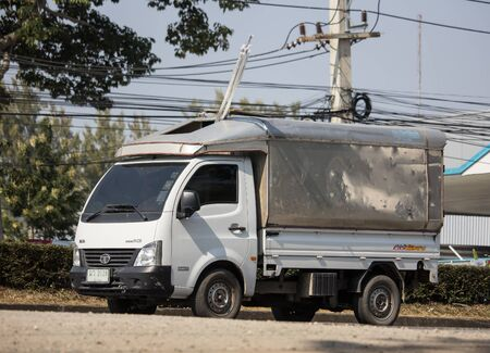 Chiangmai, Thailand - December 12 2019: Private Tata SuperACE City Giant Mini truck. On road no.1001 8 km from Chiangmai city.