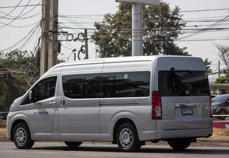 Chiangmai, Thailand - December 24 2019:  Private All New Toyota commuter van. Photo at road no.121 about 8 km from downtown Chiangmai thailand.