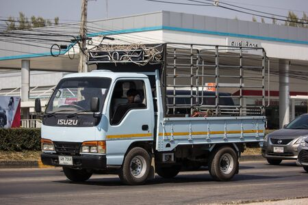 Chiangmai, Thailand - December 12 2019: Private Isuzu  Cargo Truck. Photo at road no.1001 about 8 km from downtown Chiangmai, thailand. Editorial