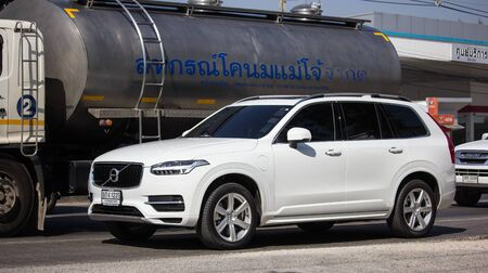 Chiangmai, Thailand - December 16 2019: Private car, Volvo XC90. Photo at road no 121 about 8 km from downtown Chiangmai, thailand. Editorial