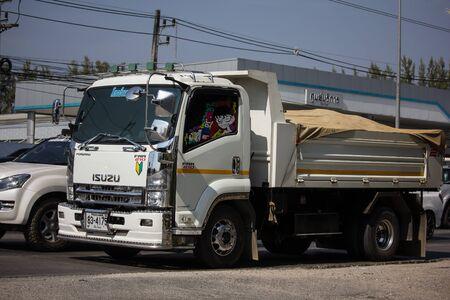 Chiangmai, Thailand - December 24 2019:  Private Isuzu Dump Truck. On road no.1001 8 km from Chiangmai Business Area. Editorial