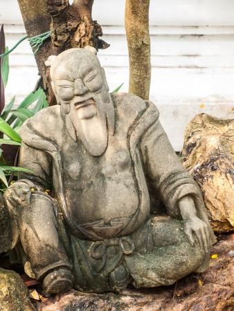 statuary garden: Stone carving at wat phra kaeo,Thailand.