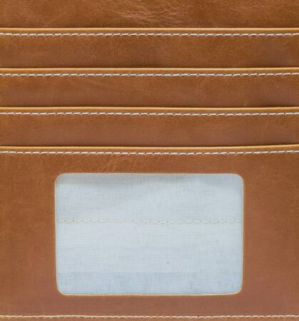 smacker: Closeup inside of wallet made from artificial leather background