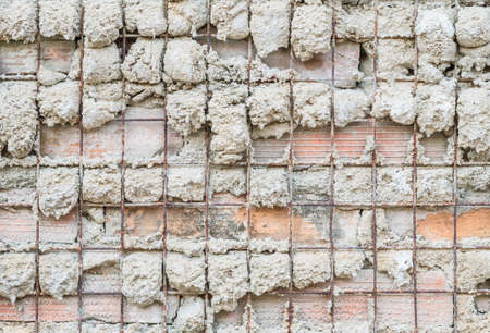 flawed: The wall under construction texture background Stock Photo