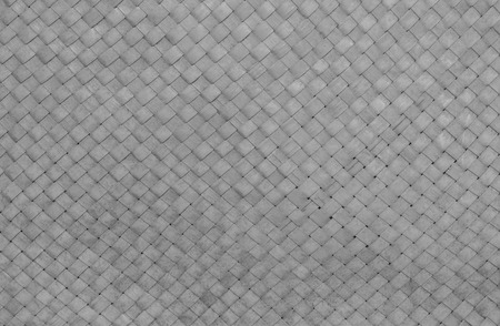 wicker work: Closeup wood weave bag texture background in black and white tone