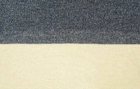 two tone: Closeup surface two tone fabric texture background Stock Photo