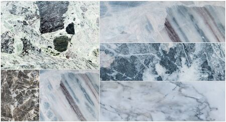 floor tiles: Group of closeup surface marble floor texture background