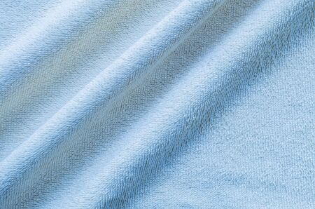 hanky: Closeup wrinkled blue napkin fabric background