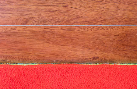 red carpet background: Wood wall with red carpet background