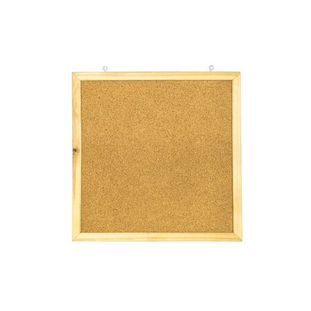 brown cork: Closeup brown cork board isolated on white background