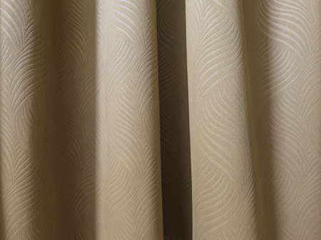 backgroung: Brown curtain in bedroom backgroung