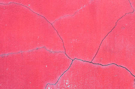 tabular: Closeup old and crack red cement wall texture background