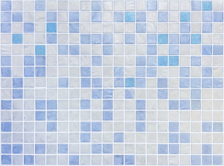 bathroom tiles: Closeup surface tiles pattern at blue tiles in bathroom wall texture background Stock Photo