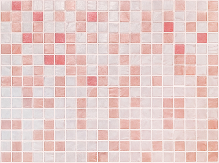 bathroom tiles: Closeup surface tiles pattern at red tiles in bathroom wall texture background