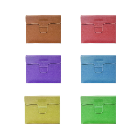Group of color bag for document paper isolated on white background Stock Photo