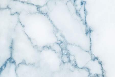 Closeup surface abstract marble pattern at blue marble stone wall texture background Standard-Bild