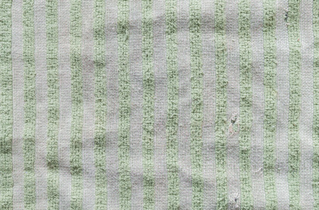 Closeup old and dirty napkin fabric background Imagens
