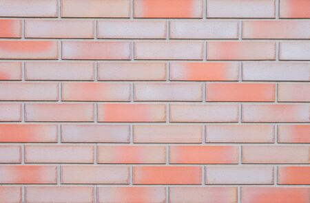 Closeup surface brick pattern at beautiful brick wall textured background