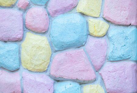 Closeup surface brick pattern at colorful brick wall textured background