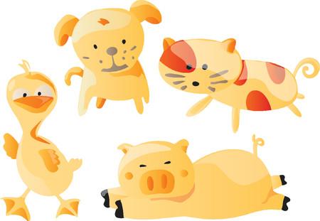 Animals Cartoon (Vector)