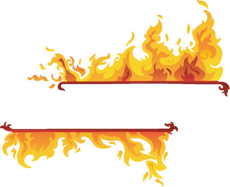 Burning Flame Banner (Vector) Vector