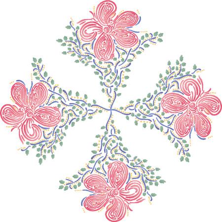 Flower Pattern (Vector) Vector