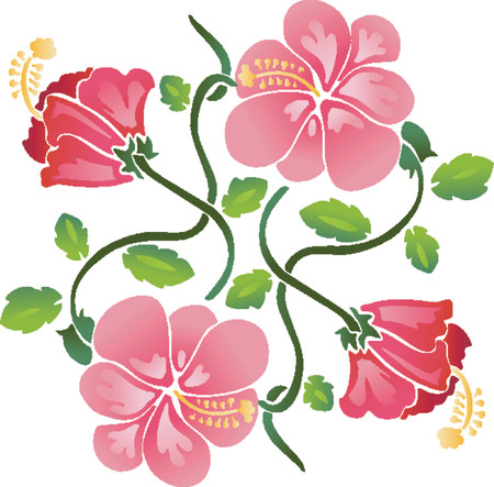 Flower Pattern (Vector) Vector