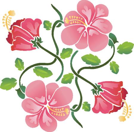 roses petals: Flower Pattern (Vector) Illustration