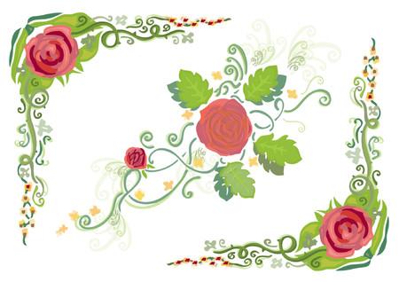 flower arrangement: Flower Vector Art Pattern (Vector) Illustration