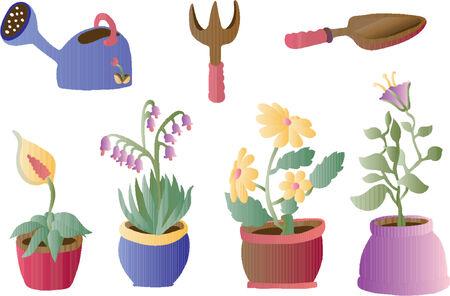 notions: Gardenting y Plantas (Vector)  Vectores