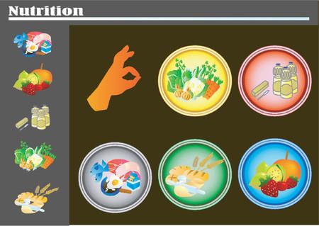 lifestyle dining: Nutrition Essentials (Vector) Illustration