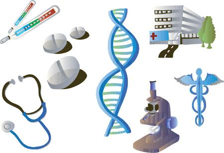 Medical Clipart 01 (Vector) Illustration