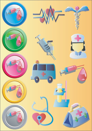 emergency kit: Medical Icons 2 (Vector)