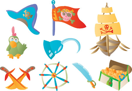 предмет коллекционирования: Pirate 01 (Vector) Иллюстрация