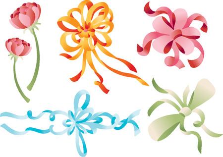 Ribbon Flower Gift (Vector)