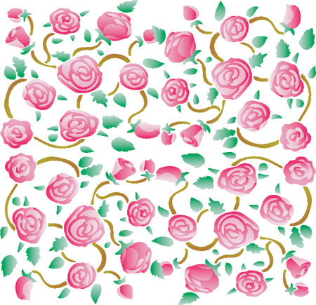Roses fabric pattern 01 Vector