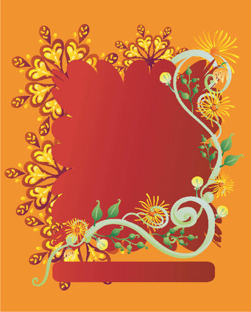 Colorful Retro Flower Banner (Vector) Illustration