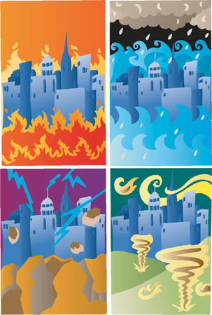 Los cuatro Desastres (Vector)